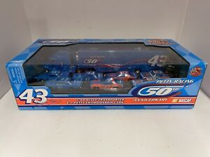 1999 Petty Racing Diecast Cars Transporter 50th Anniversary 1:64 Set #43 NASCAR