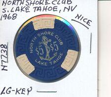$5 CASINO CHIP - NORTH SHORE CLUB S LAKE TAHOE 1968 LG KEY #N7738 NICE GOLD H/S
