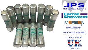 FR10AM50V Ferraz Shawmut Mersen Fuses 10x38mm Pick Your A Rating Type aM x1/5/10