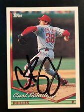 Curt Schilling Signed 1994 Topps #142 Phillies Auto EX MT