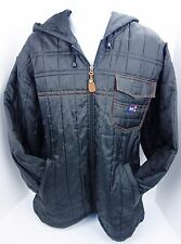 Large Phat Farm Puffer Coat Hoodie Black Jacket L