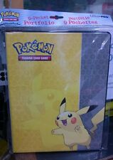Pokemon Pikachu 9 Pocket Page Portfolio Album Binder Holder Card Protector New