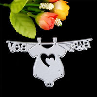 Baby Clothes Metal Cutting Dies Stencils For Scrapbooking DIY Album Cards CN