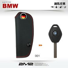 Leather Key fob Holder Case Chain Cover FIT For BMW E61 E53 E85 E36 E46 E39