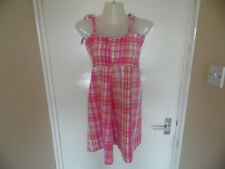 Ladies pink and White check strappy smock top is 12/40