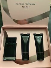 New Narciso Rodriguez 50ml EDT, 75ml Ladies Shower Gel body lotion GIFT Boxed BN