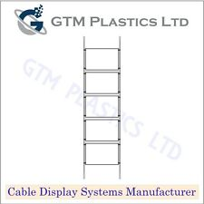 Cable Window Estate Agent Display - 1x5 A4 Landscape - Suspended Wire Systems
