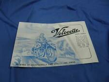 Original Velocette Sales Brochure, MAC 350 1949, Excellent Cond! VE13