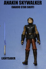 Star Wars The Clone Wars Jedi Master Anakin Skywalker Star Skiff Action Figure!