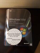 Microsoft Windows Vista Ultimate w/Service Pack 1  32/64 Bit DVDs