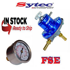 FSE SYTEC ajustable Regulador de presión de combustible 1:1 y calibre 1-5 Bar Azul SAR001B