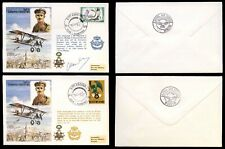 RAF FDC CO-ORD SERIES C55 2nd Lt Edmond Thieffry Signed and Flown Covers 1978