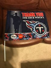 """Titans Navy Thank You For Your Service Kroger Coca Cola Flag 24"""" X 17.5"""""""