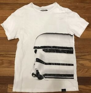 STAR WARS Stormtroopers T-Shirt White Graphic Tee Youth Medium Old Navy