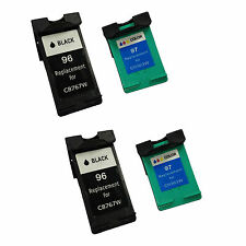 Remanufactured Ink Cartridge for HP 96/97 Printers (Pack of 2 Black 2 Color)