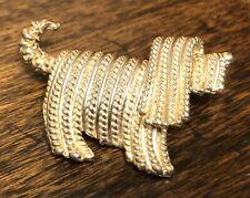 Vintage Napier Gold Shaggy Komondor Dog Pin Brooch Sheepdog Sheep Yorkie Sheltie