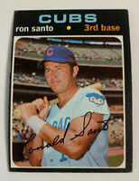 1971 Ron Santo # 220 Chicago Cubs Topps Baseball Card HOF