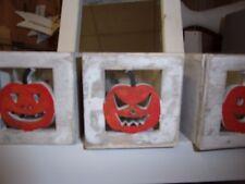Lot de 3 photophore Halloween HELLOWEEN citrouille