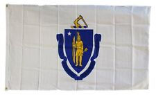 Massachusetts State Flag 3 x 5 Foot Flag - New 3x5 Indoor Or Outdoor