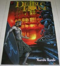 DIABLO HOUSE #1 RARE HUMBLE BUNDLE EDITION signed by TED ADAMS (IDW 2017) (FN+)