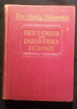 NEW HANDY DICTIONARY FRENCH * ENGLISH & ENGLISH * FRENCH DICTIONARY 1943.