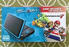 Nintendo 2DS XL - Black + Turquoise With Mario Kart 7 Pre-installed NEW!