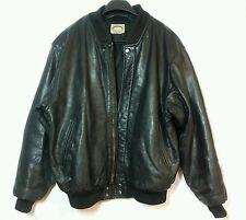 Vintage Black Leather Bomber Jacket Banana Republic Size M