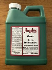 Angelus Brand Green acrylic leather paint in 16 oz/1 pint