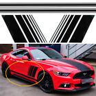 For Ford Mustang Black Rally Racing Stripes Door Side Decal Vinyl Sticker L & R