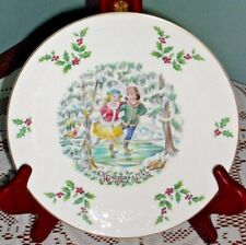 Royal Doulton Christmas 1977 Plate w/Box Vintage 8.25""