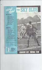 Coventry City Division 1 Home Teams C-E Football Programmes