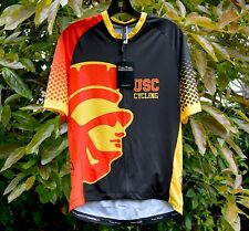 Pedal Mafia TECH Jersey USC Trojans Cycling XL 38-42 Chest Full Zipper