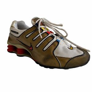 Vintage 2002 Nike Shox Gold Shoes Mens 8 Womens 9.5 305618 Multicolor Lace Loop