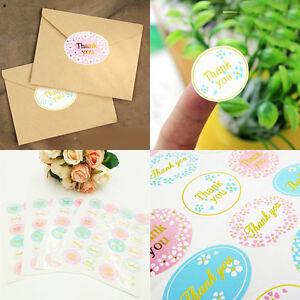 """120Pcs Golden """"Thank You"""" Sealing Sticker Envelope Cookie Bag Gift Box Candy DIY"""