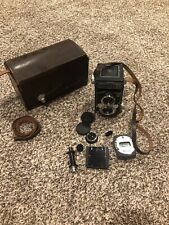 VINTAGE YASHICA 635 TWIN LENS REFLEX 35mm / 120mm FILM CAMERA WITH ACCESORIES