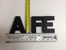 """4"""" Wagner Slotted Movie Theatre Marquee Sign Big Letters Numbers Large Vintage"""