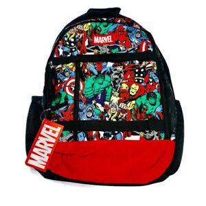 Marvel Avengers Backpack Iron Man Thor Hulk Comics Bioworld All Over Print