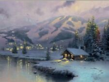 """Limited Edition Thomas Kinkade """"Olympic Mountain Evening"""" Collector Plate 2002"""