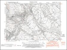 Treharris, Abercynon NE, Crag Berthlwyd, old map Glamorgan 1948: 19SE Wales