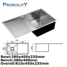 760mm x 400mm Stainless Steel Home Commercial Kitchen Laundry Under Mount Sink