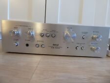 VINTAGE AKAI AM-2200 Amplificatore Amp Argento e Legno Manopole JAPAN MADE & Bluetooth