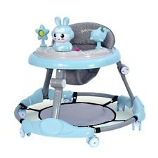 Infant Baby Walker Foldable Helper Adjustable Height Baby Activity Wheels Stand