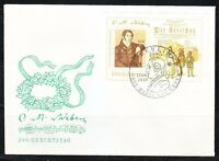 Germany DDR 1986 FDC cover Mi block 86 Sc 2576 Carl Maria von Weber,composer RR