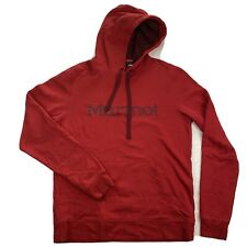 Marmot Mens Medium Red Spell Out Pullover Hoodie Sweater