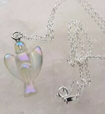 STUNNING ANGEL AURA QUARTZ ANGEL PENDANT AND 925 Silver NECKLACE