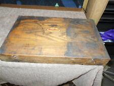 Vintage Blue Point Snap On Adjustable Reamers Wood Box