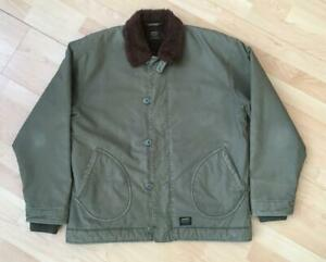 Carhartt Alden Deck Jacket Olive Green Mens Medium (Large) Military N-1 Harley