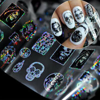 1Pc Mixed Nail Art Sticker Kinds of Skull Shapes Decal DIY Tip Decoration Tool