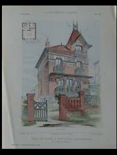 MESNIL-VAL, CUSSET - PLANCHES ARCHITECTURE 1905 - MERIOT