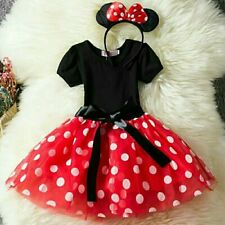 Baby Kid Child Girls Disney Minnie Mouse Show Party Costume Cute Fancy Dress
